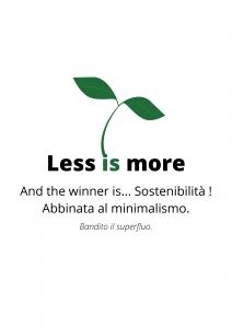 Read more about the article Less is more. Prodotti sostenibili abbinati al minimalismo