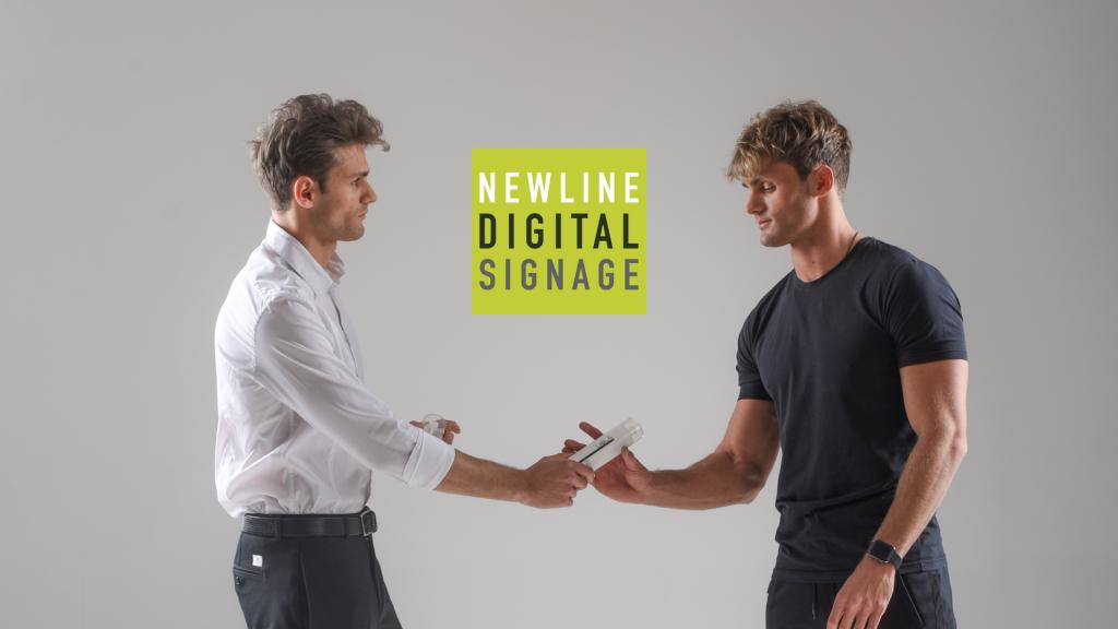 Partnership newline digital signage