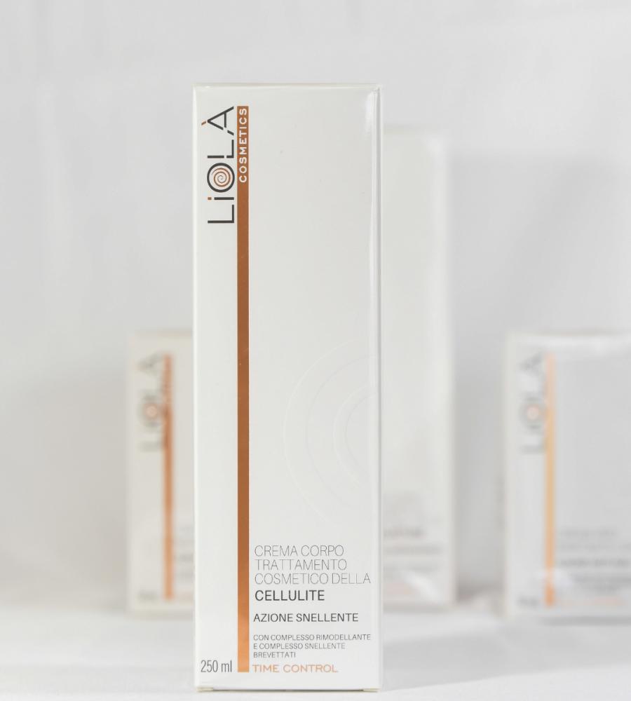 Crema corpo trattamento cosmetico della cellulite Liolà Cosmetics, con oro rosa